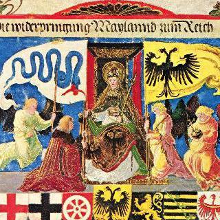 막시밀리안 황제의 개선행렬 : 밀라노의 제국으로의 편입