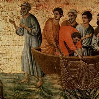마에스타, 제단꼭대기장식 : 디베랴(게네사렛) 호숫가에 나타난 그리스도