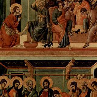 마에스타, 제자들의 발을 씻는 그리스도와 최후의 만찬