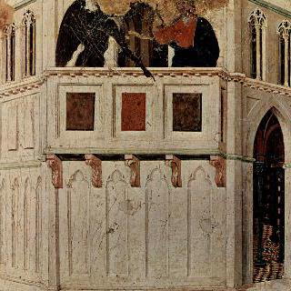 마에스타, 성전 꼭대기에서의 그리스도 유혹, 일부 조각