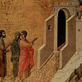 마에스타, 그리스도 수난의 장면들을 기록한 총목록 : 두 사도에게 나타난 그리스도