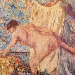 욕조에서 나오는 여인