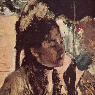튈르리에서 : 양산을 쓴 여인