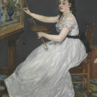 마네의 아틀리에에 있는 에바 곤살레스의 초상