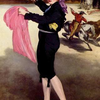 투우사 복장을 한 마드무아젤 빅토린의 초상