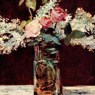 정물, 라일락과 장미