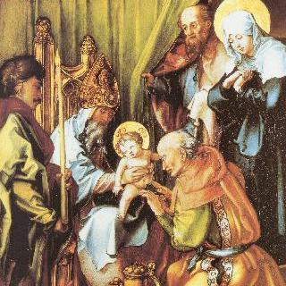 성모칠고 (성모 마리아의 일곱 가지 고통), 가운데 패널 : 그리스도의 할례