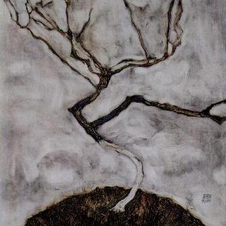 늦가을의 작은 나무