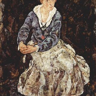 앉아 있는 에디트 실레의 초상