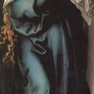 성모칠고 (성모 마리아의 일곱 가지 고통), 가운데 패널 : 애통하는 성모