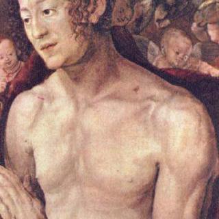 드레스덴 제단화, 오른쪽 날개 : 성 세바스찬