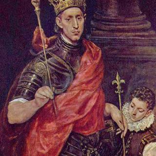 프랑스 국왕인 성 루이와 시동