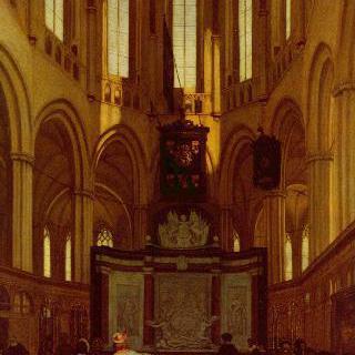 미힐 더 라위터르의 무덤이 있는 암스테르담 신교회의 내진