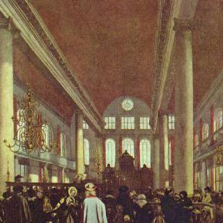 암스테르담에 있는 포르투갈인들의 유대교회당 내부 이미지