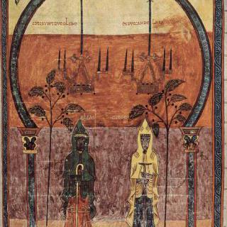 스페인 수도사 베아투스 데 리에바나의 요한계시록 주해서집 (8세기) : 양쪽 증인들