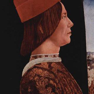 벤티볼리오의 두 폭 제단화, 왼쪽 날개 : 조반니 2세 벤티볼리오의 초상