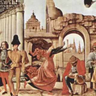 그리포니 제단화, 제단 장식대 패널 : 성 빈센트 페레르의 기적들