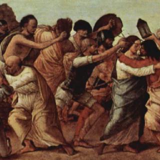 그리스도의 수난 장면들을 그린 제단 장식대 패널 : 감람산에서의 기도와 그리스도 조롱
