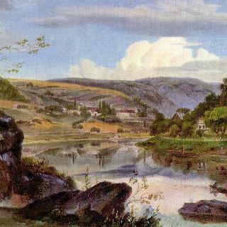 노이부르크 수도원과 네카어 계곡