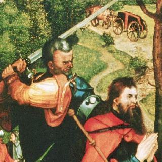 헬러 제단화, 왼쪽 날개 안쪽 : 성 야고보의 순교