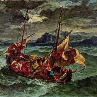 게네사렛 호수 위의 그리스도
