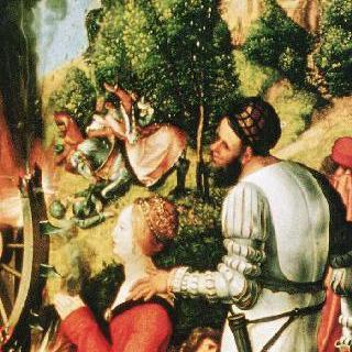 헬러 제단화, 오른쪽 날개 : 성 카타리나의 순교