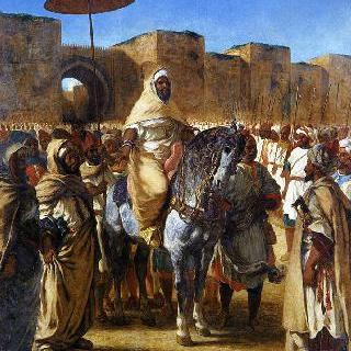 자신의 경호원들과 왕자들에게 둘러싸인 압데르라흐만