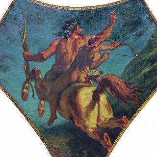 부르봉 궁전, '시학의 둥근 천장'에 그려진 그림 : 아킬레우스의 교육