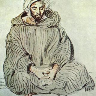 탕헤르의 앉아 있는 아랍인