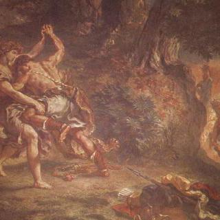 파리 생 쉴피스 교회의 벽화, 성 천사 예배당 : 천사와 싸우는 야곱