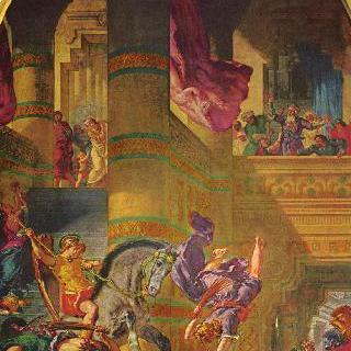 파리 생 쉴피스 교회의 벽화, 성 천사 예배당 : 사원에서 쫓겨나는 헬리오도로스