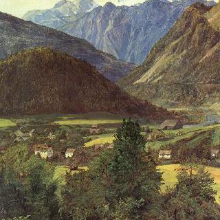 조피엔플라츠에서 바라본 다흐슈타인 산맥