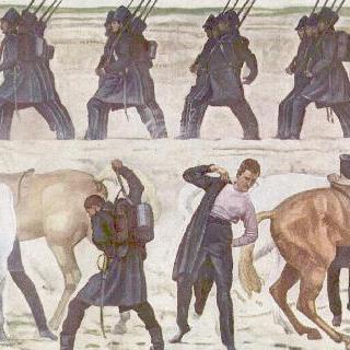 1813년 해방전쟁, 예나 대학 학도병들의 출정