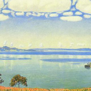 셰브르에서 바라본 제네바 호수