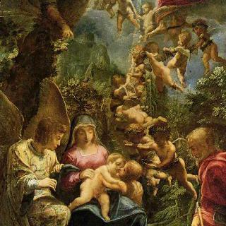 천사들과 함께 있는 성 가족