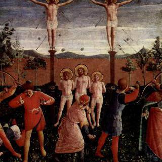 성코스마스와 다미안의 순교,십자가형과 돌팔매형으로부터의 구조