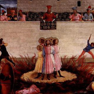 성코스마스와 다미안의순교, 화형으로부터의 신비스런 구조 이미지