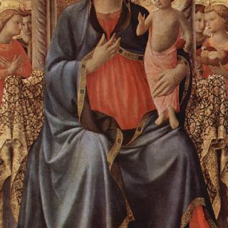 마리아와 아기 예수와 천사들