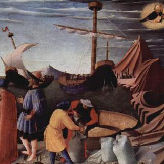 뱃사람들을 구하고 유죄판결을 받은 3인을 죽음으로부터 지키는 니콜라우스