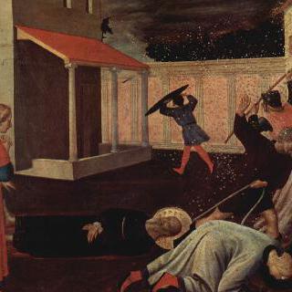 피렌체의 아마섬유 직조공 조합의 성합 (聖盒), 오른쪽 받침대 패널 : 성 마가의 순교