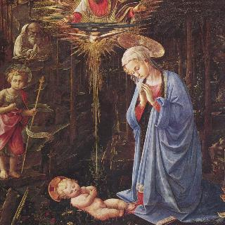 아기 예수에 대한 경배와 성 베르나르도