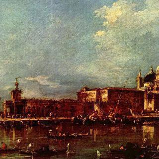 산타 마리아 델라 살루테 교회와 도가나가 보이는 베네치아 풍경