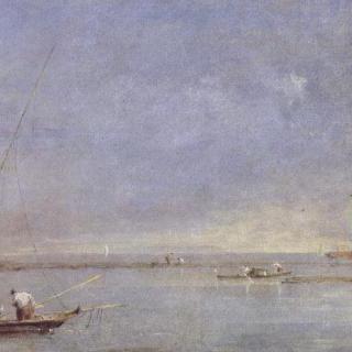 마르게라의 탑이 보이는 해안호 풍경