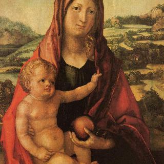 마리아와 아기 예수가 있는 풍경