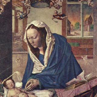 성모 제단화, 가운데 그림 : 마리아와 아기 예수