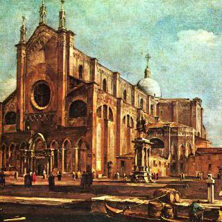 베네치아의 산티 조반니 에 파올로 교회 앞 광장
