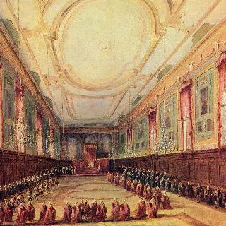 베네치아 총독을 맞이하는 교황 비오 6세