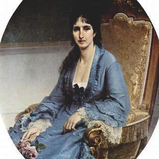 안토니에타 네그로니 프라티 모로시니의 초상, 타원형 그림