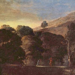 목욕하는 님프가 있는 풍경