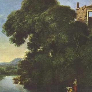 티볼리의 베스타 신전이 있는 풍경